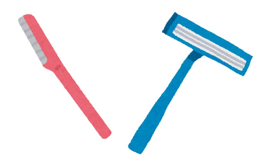 産毛処理のカミソリは、I字とT字どっちがおすすめ?